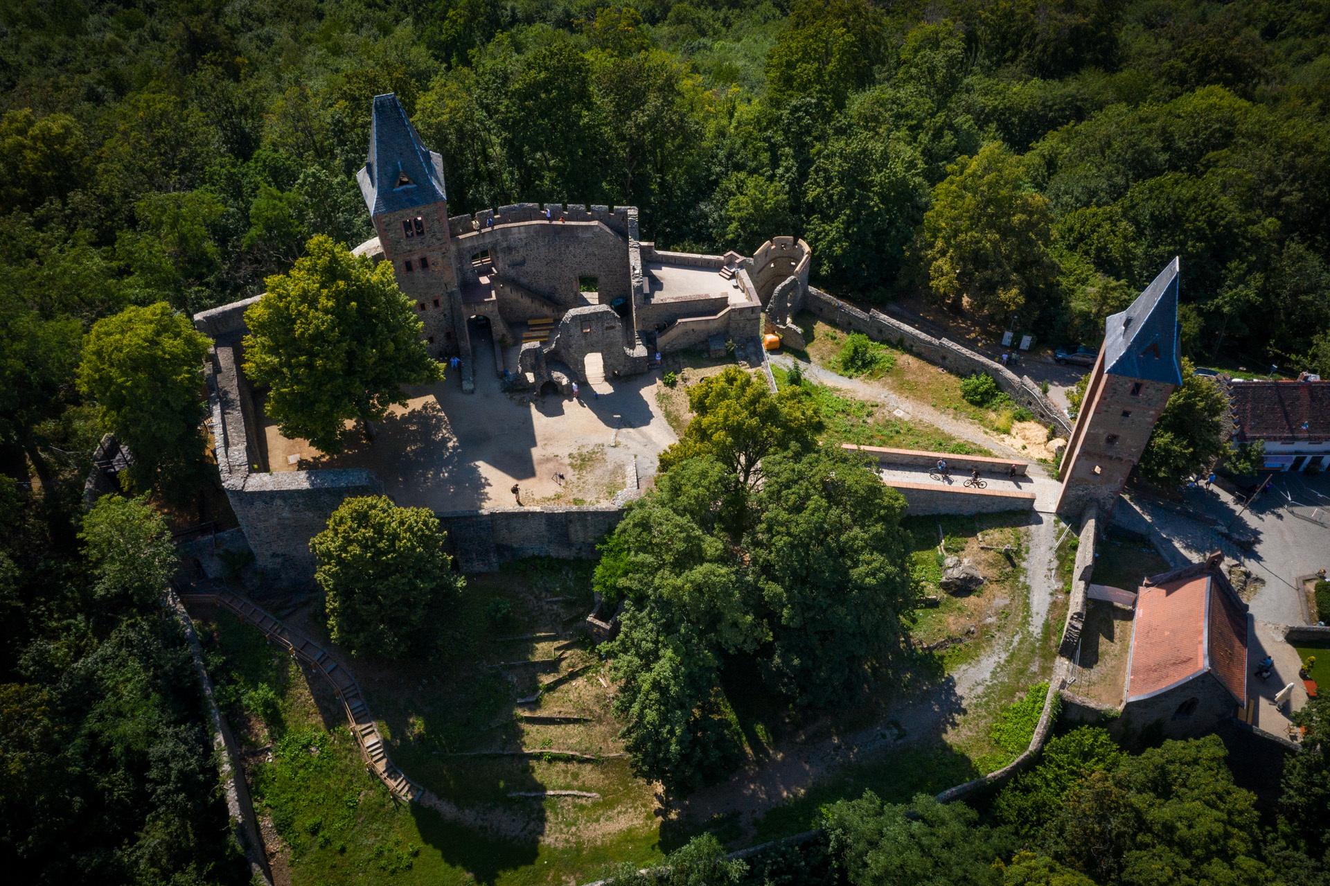 Burg Frankenstein, Drohnenaufnahme