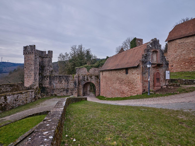 Schloss Hirschhorn, Vorburg