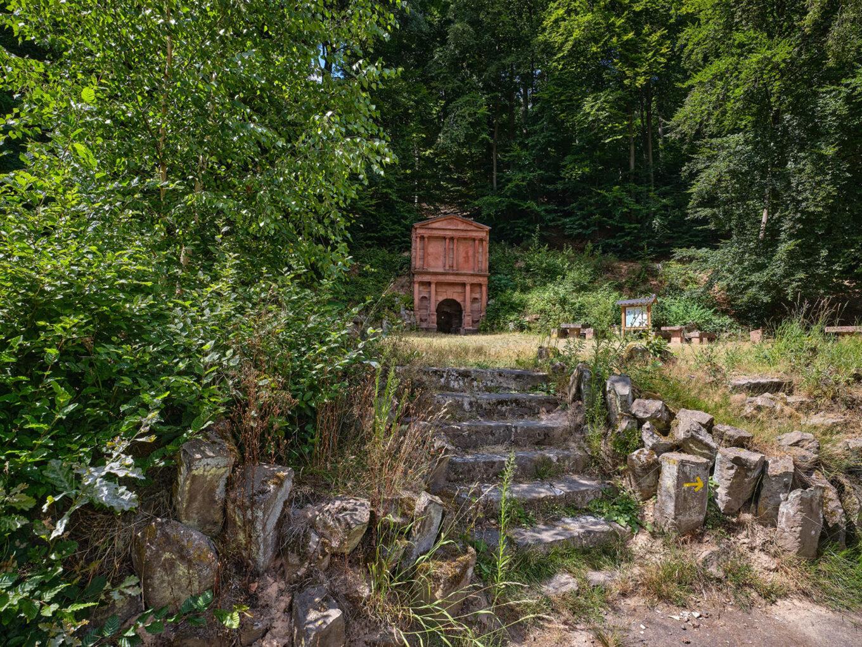 Elisabethbrunnen Schröck, Blick über die Anlage
