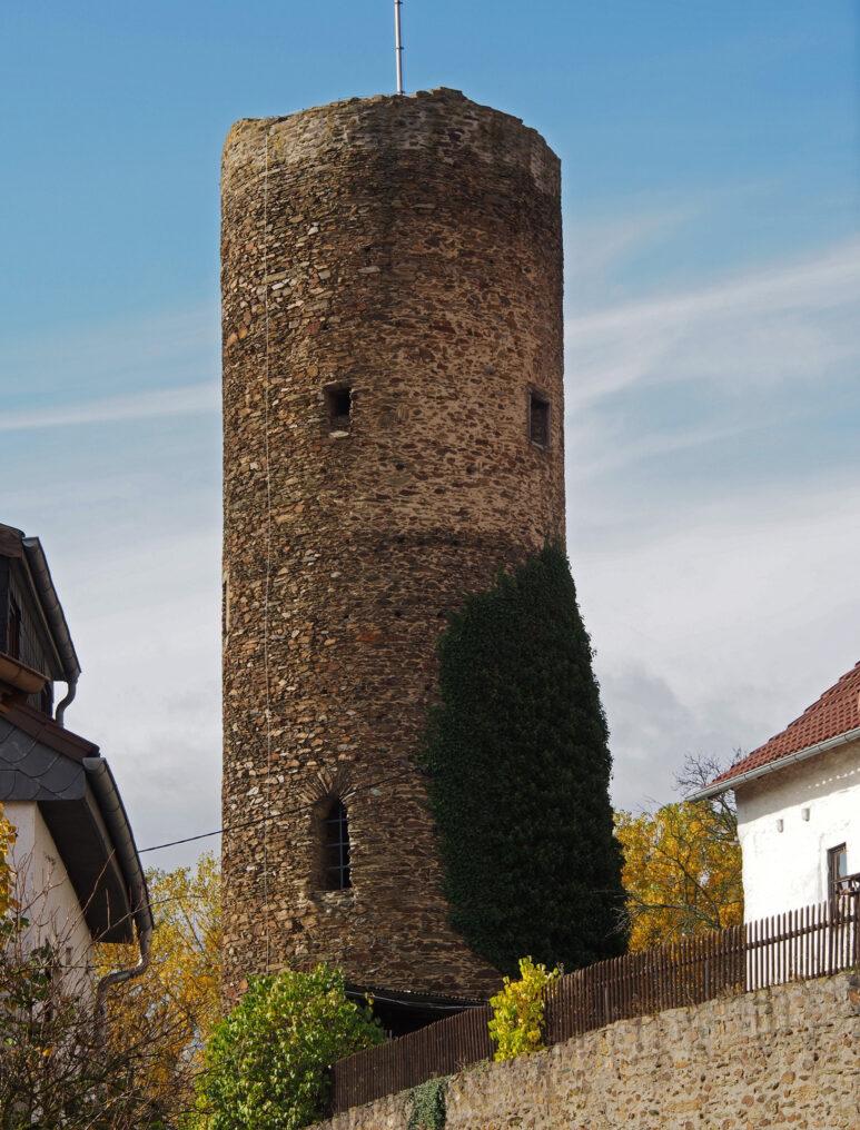 Hutturm Walsdorf, Bruchsteinmauerwerk