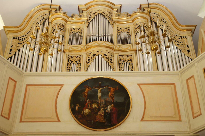 Detailansicht der Orgel in der Schlosskirche