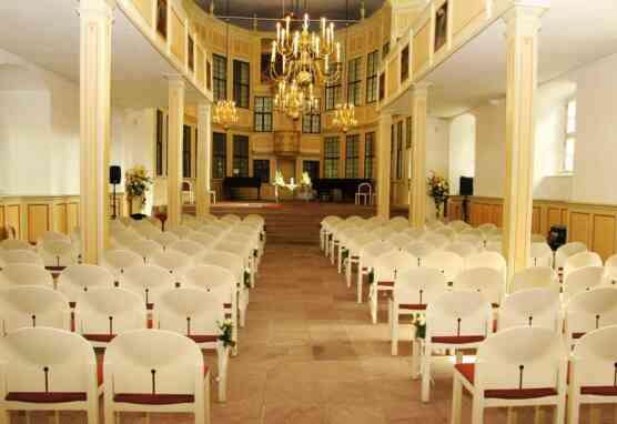 Blick in die Schlosskirche von Schloss Homburg