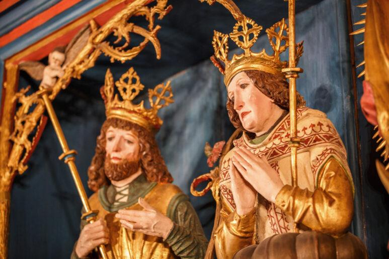 Detail des Schöllenbacher Altars in der Hubertuskapelle