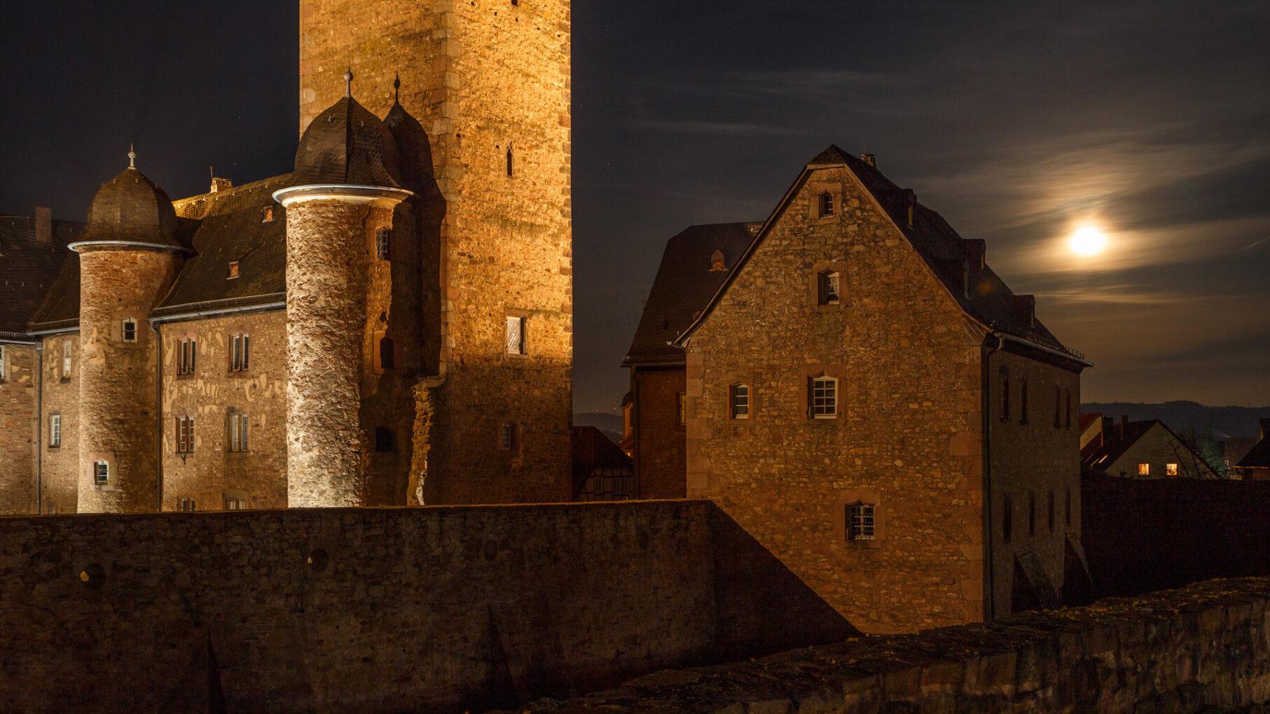 Steinau bei nacht