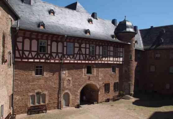 Ansicht des Hofs in Schloss Steinau