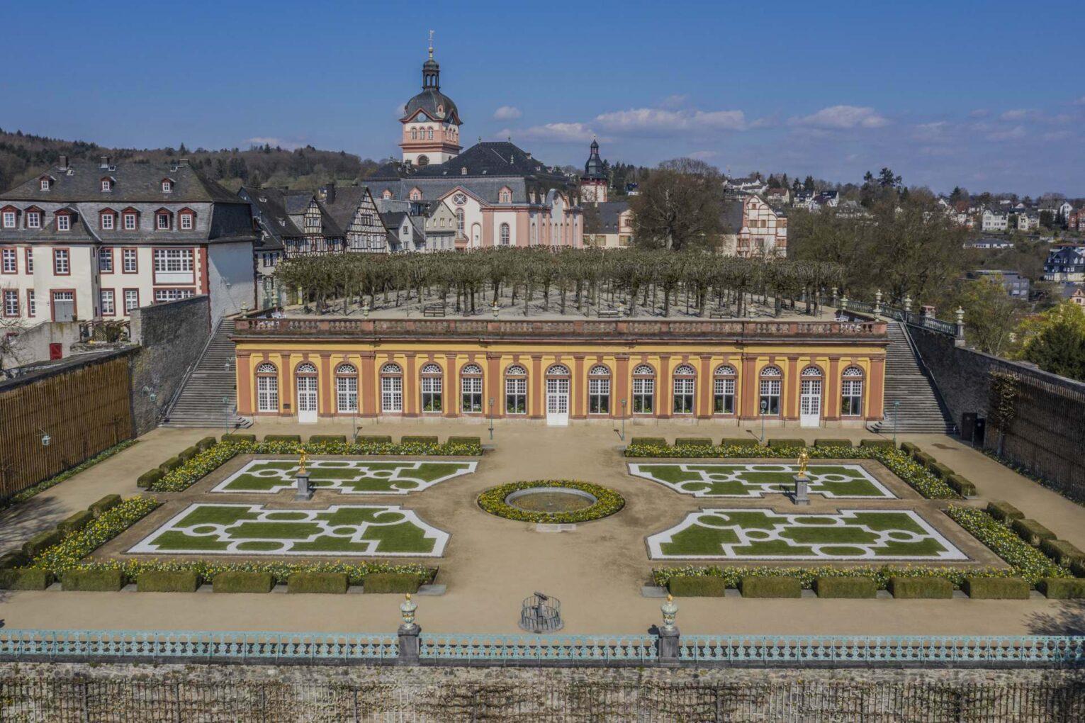 Schloss Weilburg aus der Vogelperspektive