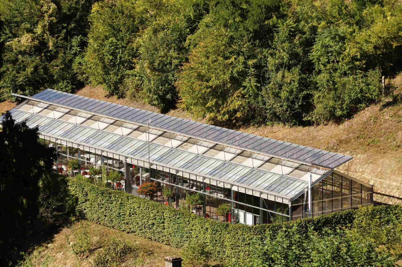 Das Glashaus aus der Vogelperspektive