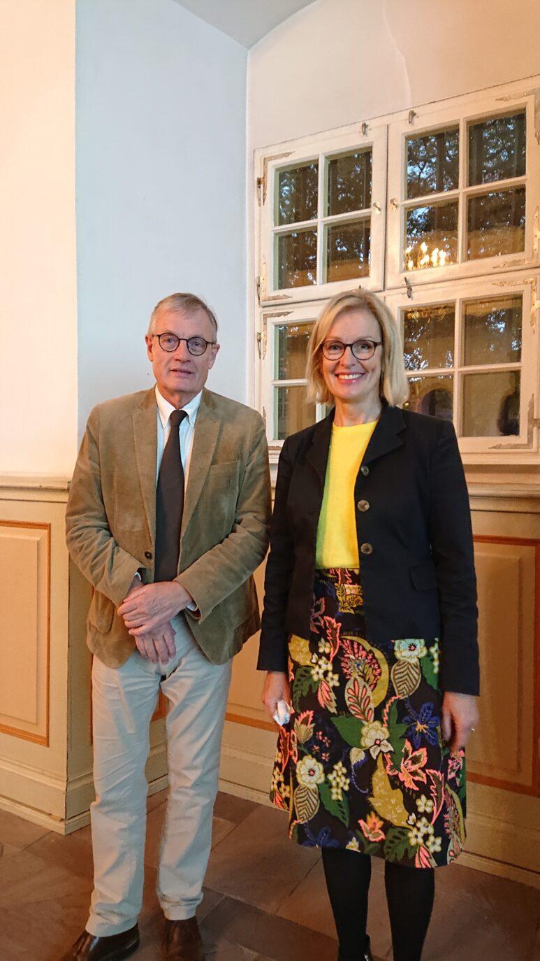 Prof Dr Werner Plumpe und Direktorin Kirsten Worms