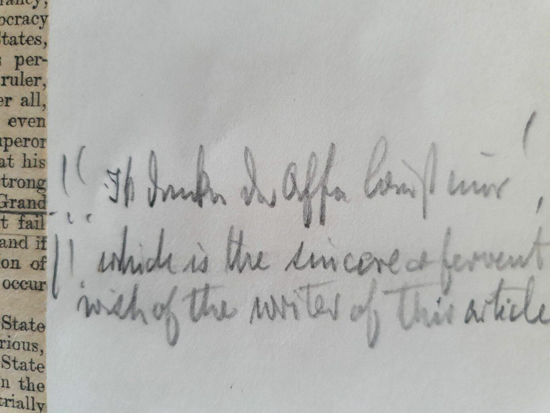 """Kommentar von Wilhelm II. """"Ik denke der Affe laust mir"""""""