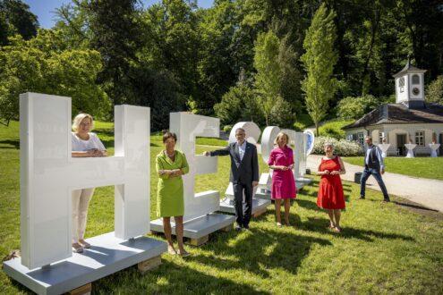 """75 Jahre Hessen Auftakt der Aktion """"Meine Heimat - Mein Zuhause"""" im Staatspark Fuerstenlager"""