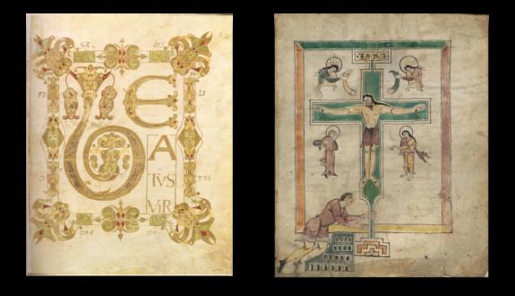 Zwei Folios aus dem Ludwigspsalter