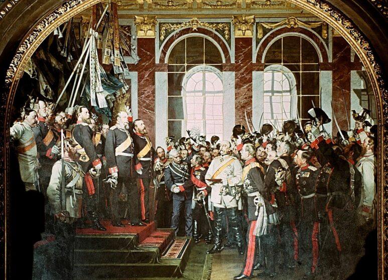 Die Proklamierung von Wilhelm zum deutschen Kaiser © Wikipedia gemeinfrei