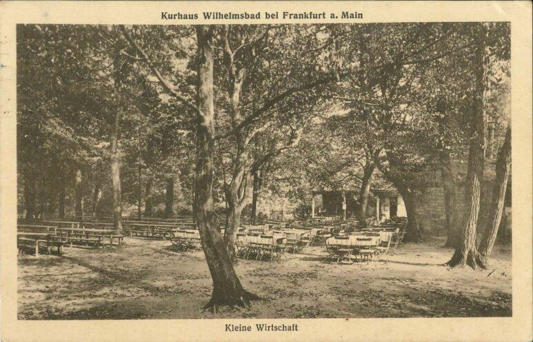Historische Ansichtskarte: die Parkwirtschaft im Jahr 1922