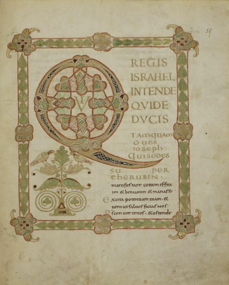 Eine weitere herrliche Seite in der Psalmen-Handschrift Ludwigs des Deutschen