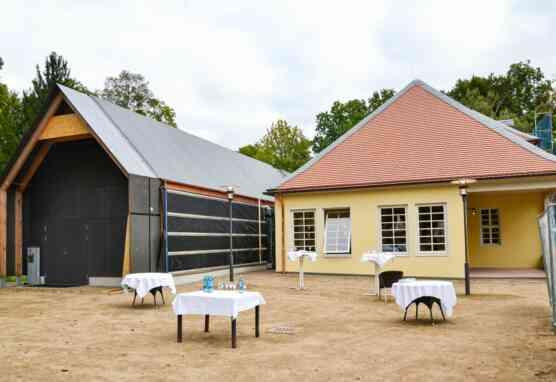 Die historische Parkwirtschaft im Wilhelmsbad wurde wieder aufgebaut