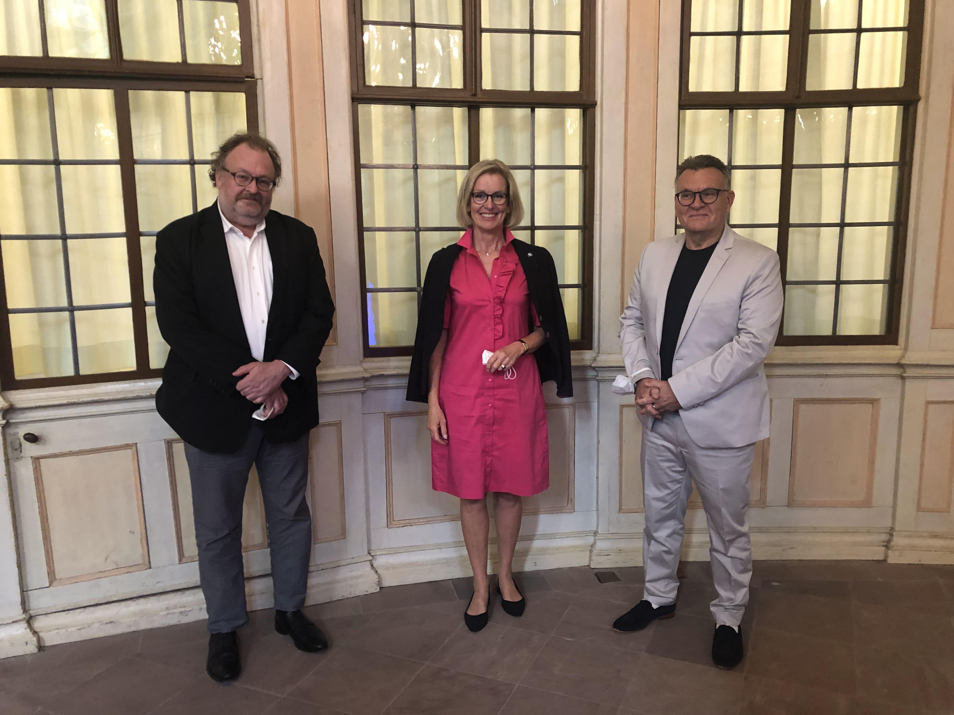 Jürgen Kaube, Kirsten Worms und Lothar Machtan (von links nach rechts)